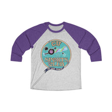 Load image into Gallery viewer, Cryptid University - Sports Club Raglan Tee (Glitch)