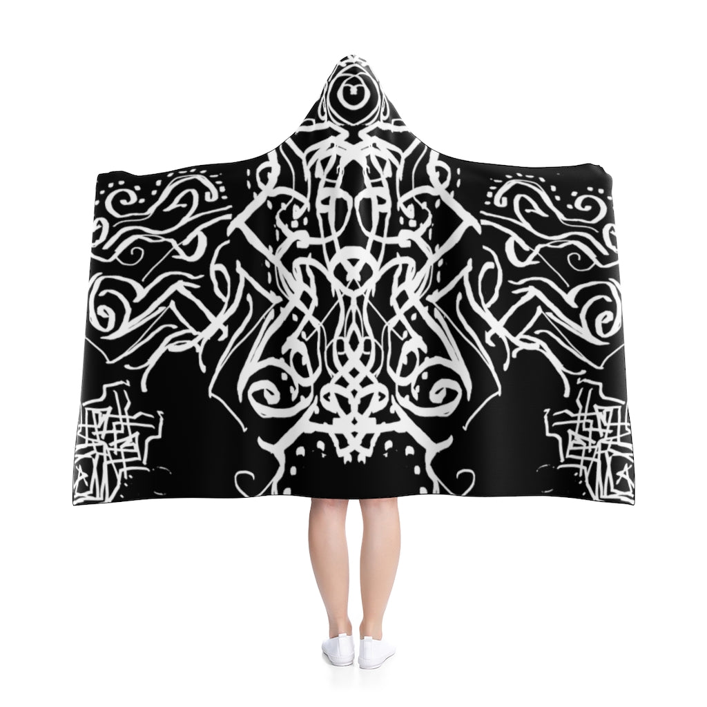 Mystic Raven - Magical Malcontent Robe - Hooded Blanket - Cryptic - Fleece