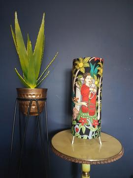 Frida Kahlo Black Jungalow Table Lamp