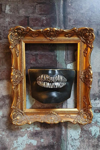 Black zebra lip shelf