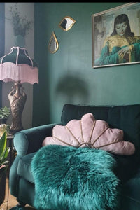Shy Pink Deco Fan Cushion