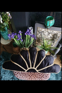 Noir Gold Deco Fan Cushion