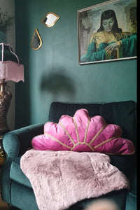 Pink Fizz Deco Fan Cushion