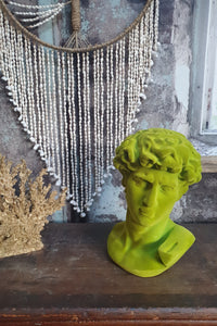 Green flocked David Bust