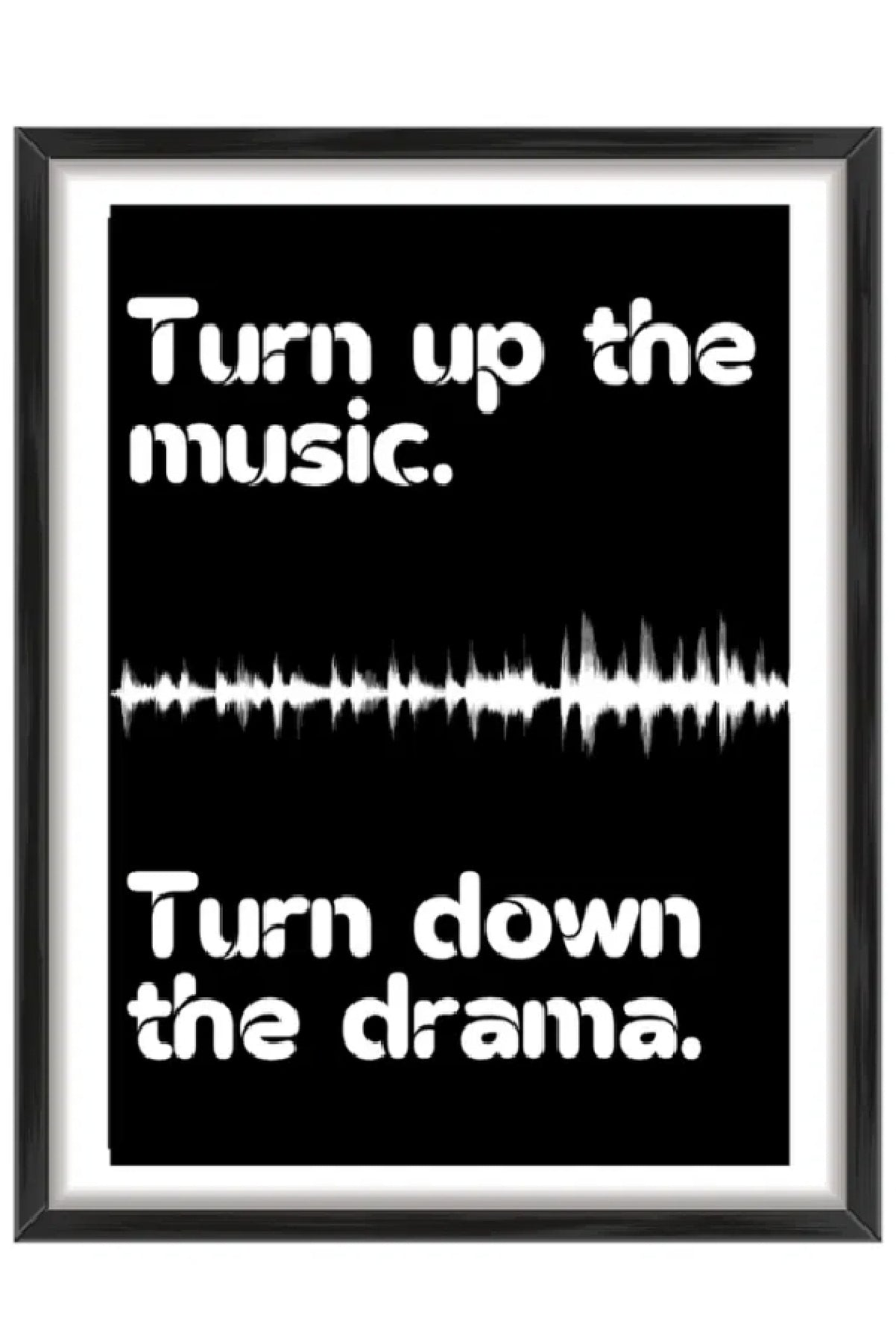 Turn up the music print