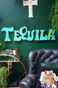 Tequila Large Metal Bar Sign