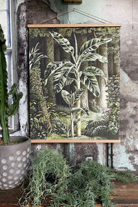 Vintage Tropical Print/Wall Canvas