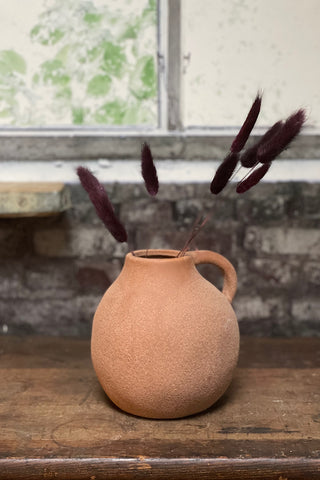 Small Sandstone Stoneware Vase with Handle