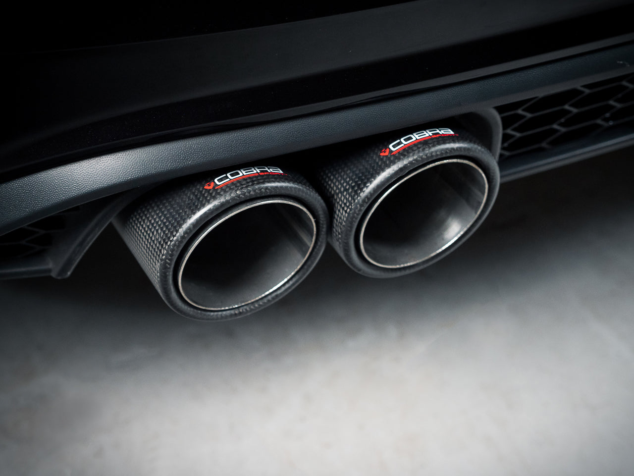 VW Polo GTI Cobra Exhaust Carbon Fibre Tailpipes