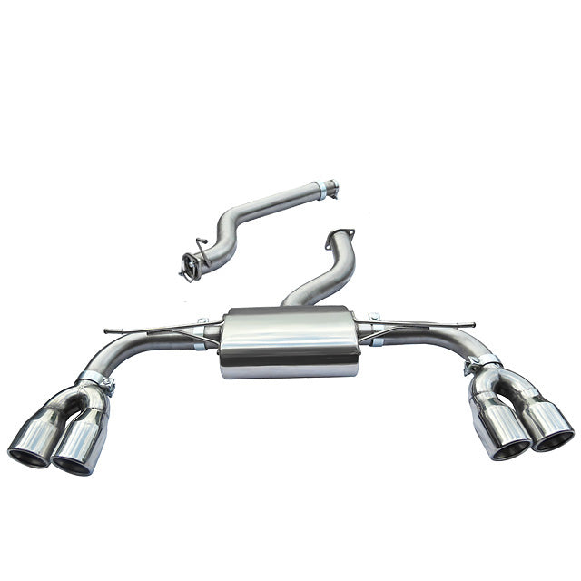 Audi S3 8V Coupe Non Valved Non Resonated Cat Back Cobra Exhaust