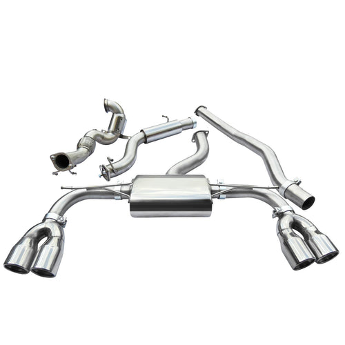 Audi S3 Saloon Quattro Turbo Back Exhaust with Sports Cat