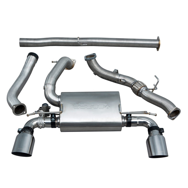Ford Focus RS (MK3) Valved Non Resonated Turbo Back Exhaust with De Cat