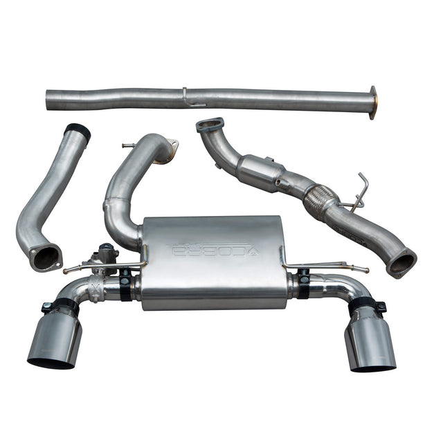 Ford Focus RS (MK3) Valved Resonated Turbo Back Exhaust with Sports Cat