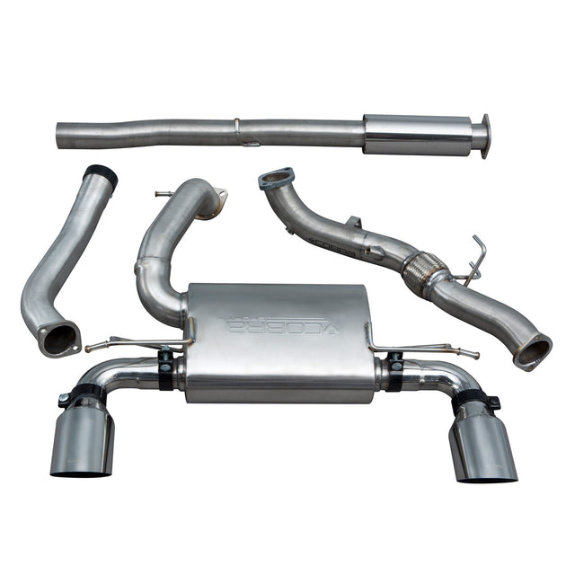 Ford Focus RS (MK3) Non Valved Resonated Turbo Back Exhaust with De-Cat