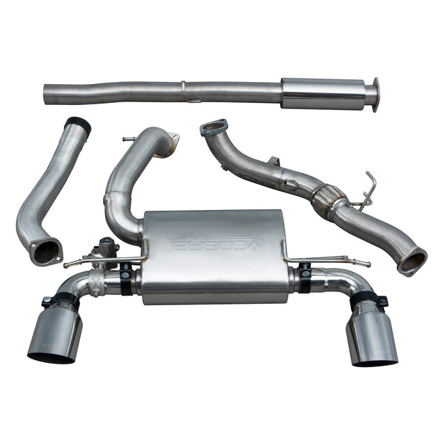 Ford Focus RS (MK3) Valved Resonated Turbo Back Exhaust with De-Cat