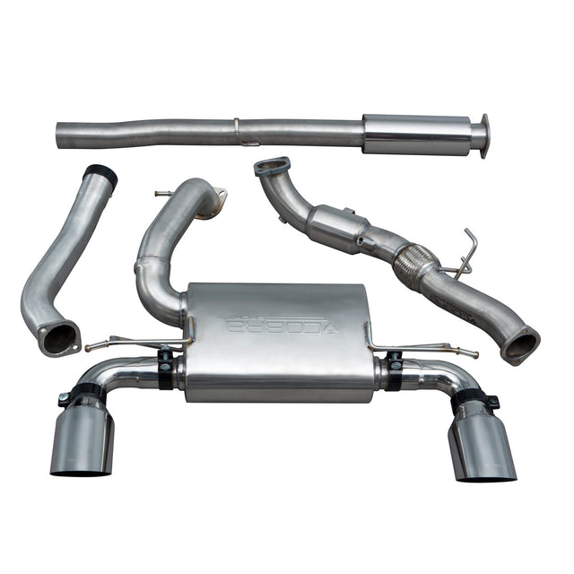 Ford Focus RS (MK3) Non Valved Resonated Turbo Back Exhaust with Sports Cat
