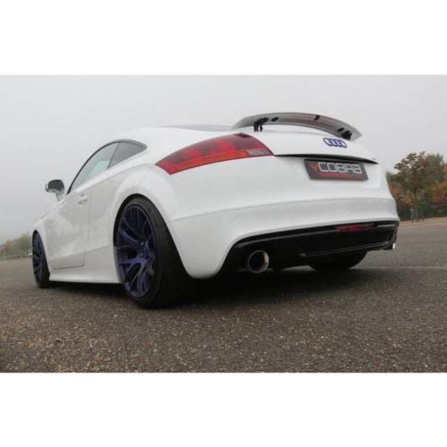 Audi TT sports exhaust fitted