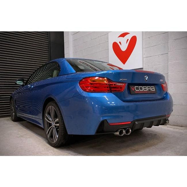 BMW 430D F33 Quad Tailpipe Exhaust Conversion by Cobra Sport