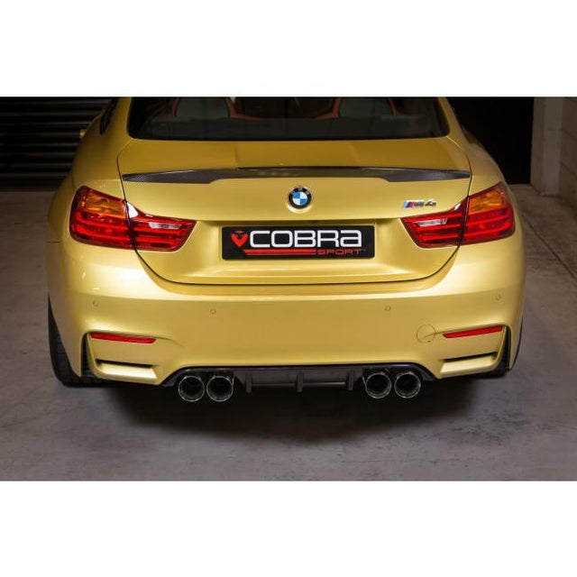 BMW M4 (F82) Primary Cat Back Valved Cobra Sport Exhaust