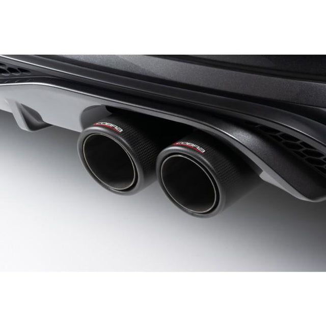 Carbon Fibre Tailpipes - Ford Fiesta ST Mk8 Valved GPF Back Cobra Sport Exhaust