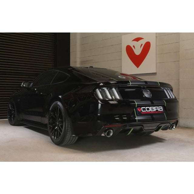 Ford Mustang GT V8 Rear Axle Back Exhaust by Cobra Sport
