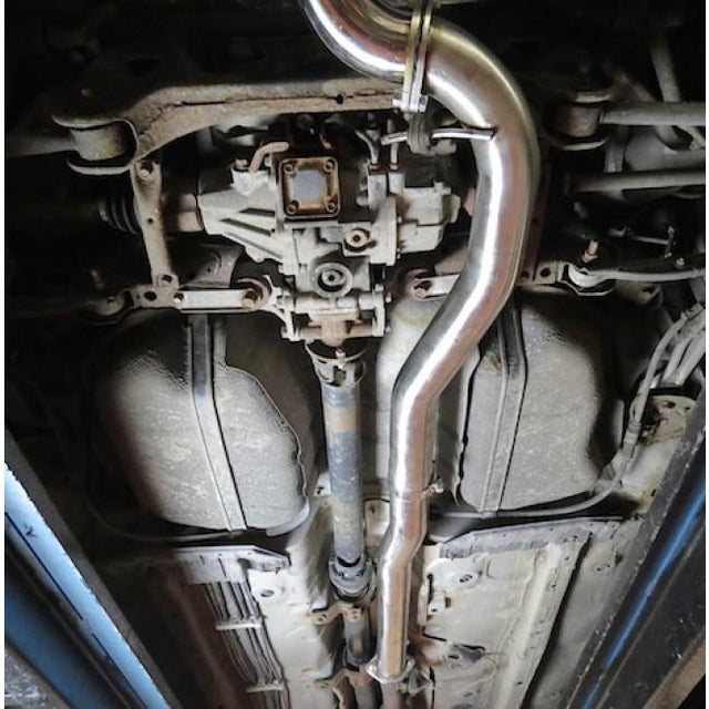 Example of Evo X Exhaust Fitted