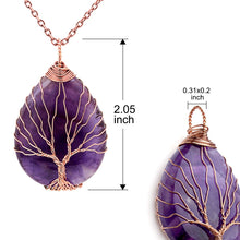Load image into Gallery viewer, Teardrop Pendant Healing Crystal Chakra -Amethyst