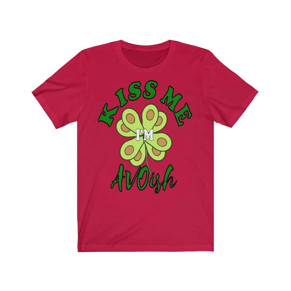 St. Patricks Avocado Unisex Jersey Short Sleeve Tee