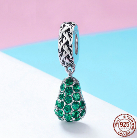 Avocado Charm - 925 Sterling Silver