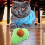 Avocado Plush Molar Catnip Pet Chew Toy