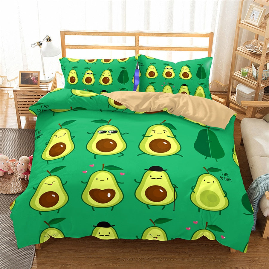 Avo Print Bedding Set