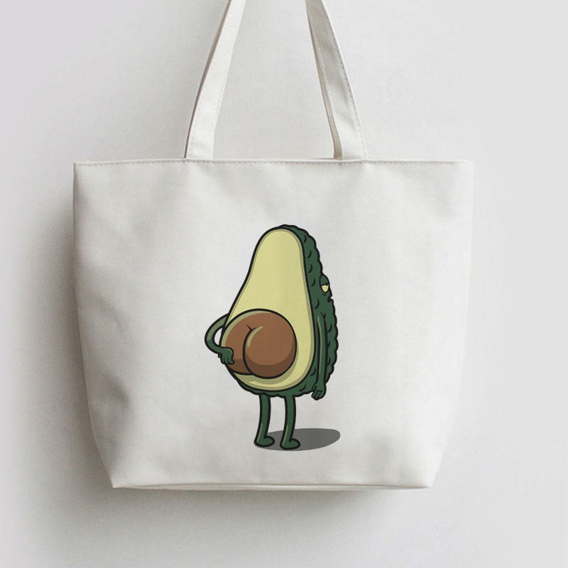 Women's Avocado Print Tote Bag