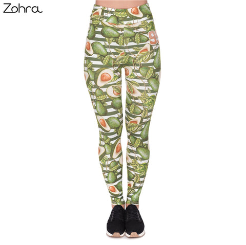 Women's Avo Print High-Waist Fitness Leggings