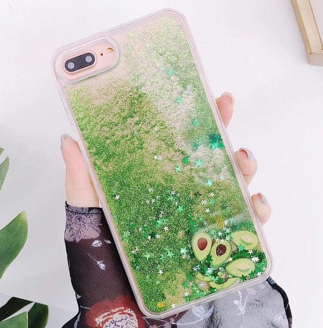 Avocado Glitter iPhone Case