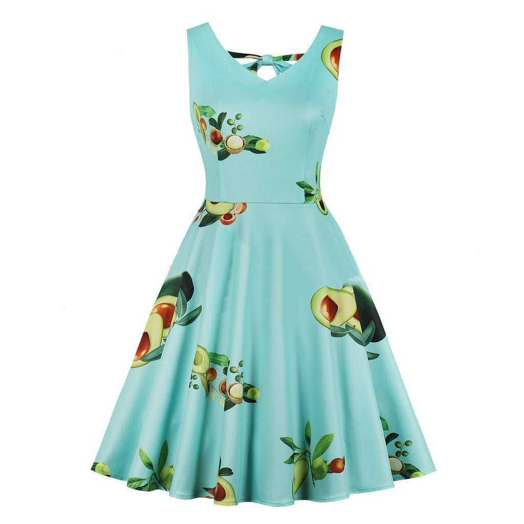 Women's Avo Print Sleeveless Dress