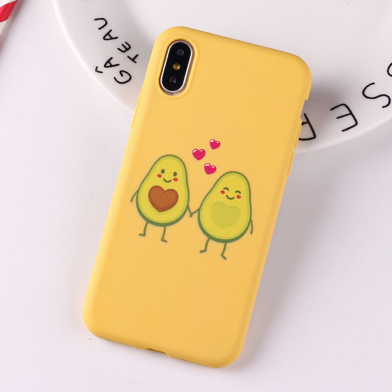 Avocado Print Soft iPhone Case