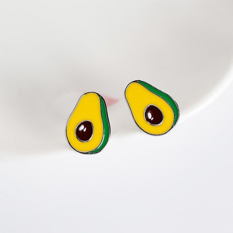 Women's Avocado Stud Earrings