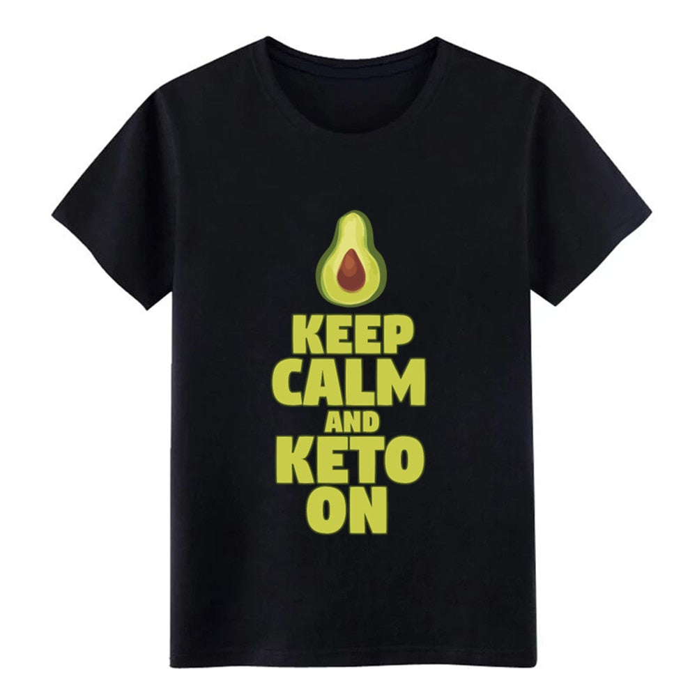 'Keep Calm And Keto On'' Men's Avo Print T-Shirt
