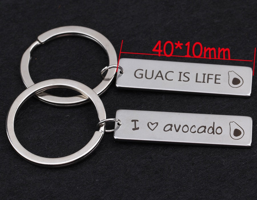 ''I Love Avocado'' Keychain