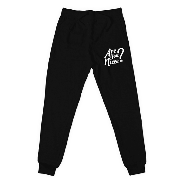Are You Nicee? (White) Joggers
