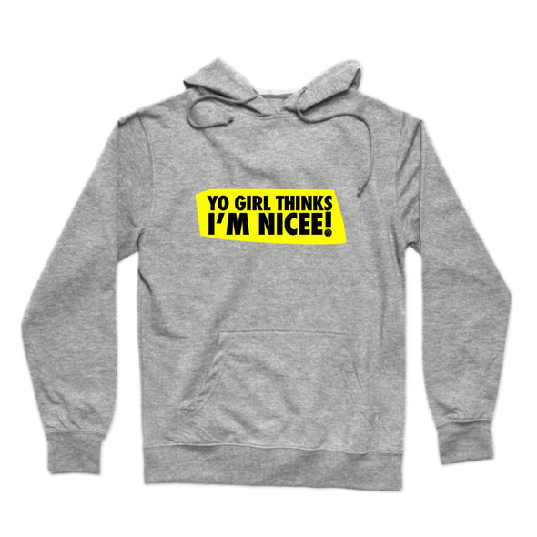 Yo Girl Thinks I'm Nicee ! (Black & Yellow) Hoodie