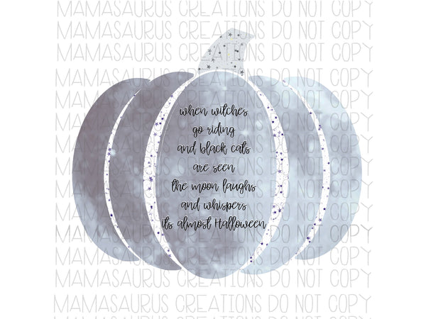 Quote Moon Pumpkin Digital Design