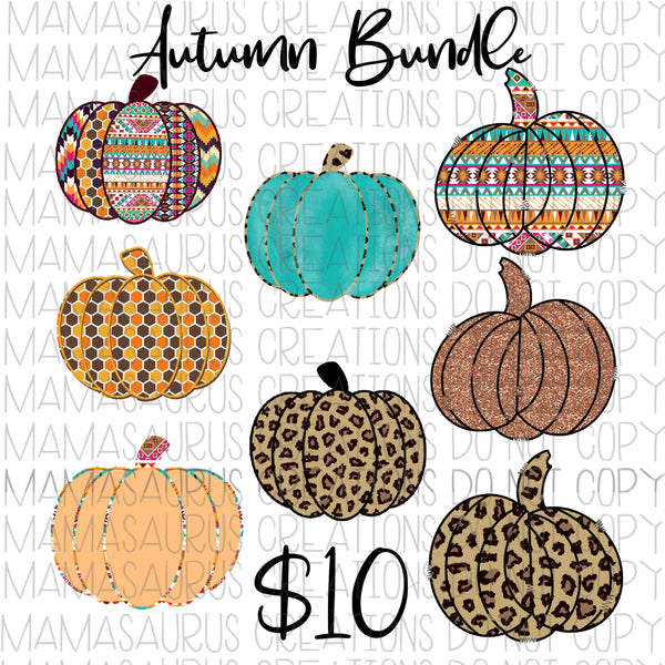 Autumn Pumpkin Bundle Digital Design