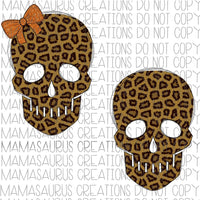 Leopard Skulls Digital Design