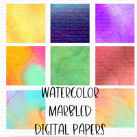 Watercolor Marble Digital Papers