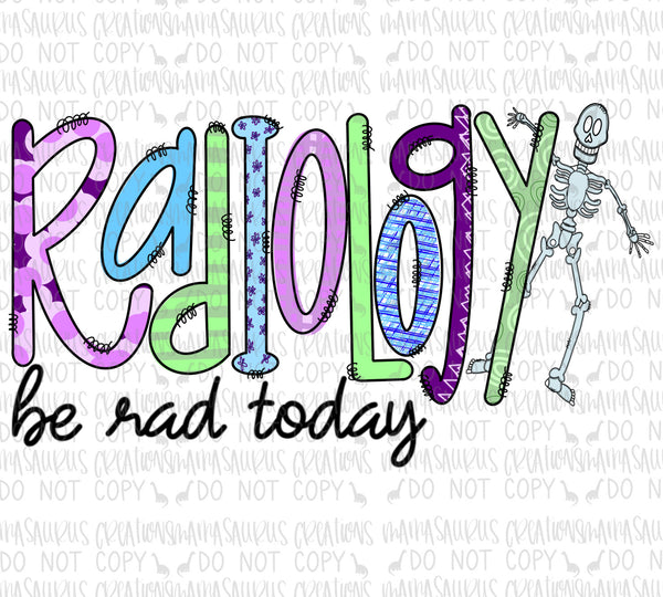 Radiology Doodle Digital Design