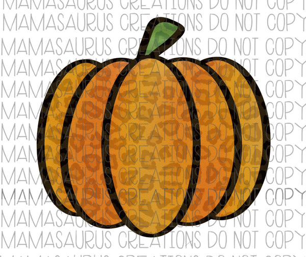 Leopard Pumpkin Digital Design