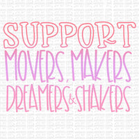 Support Movers, Makers Digital Design