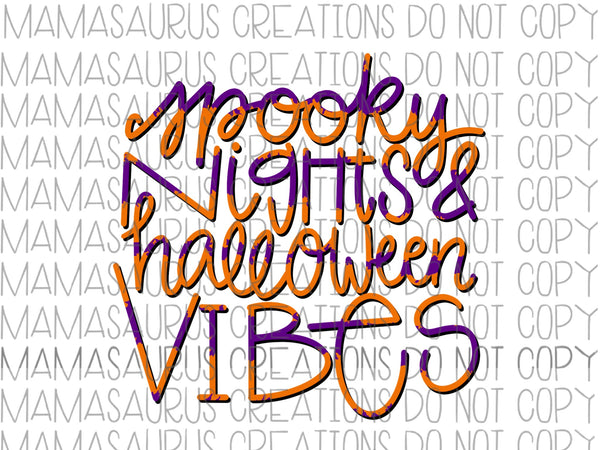Spooky Vibes Digital Design