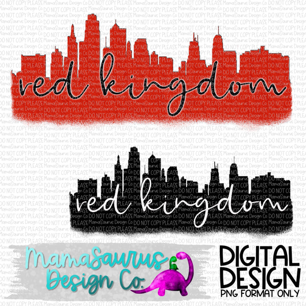 Red Kingdom Skyline Digital Design